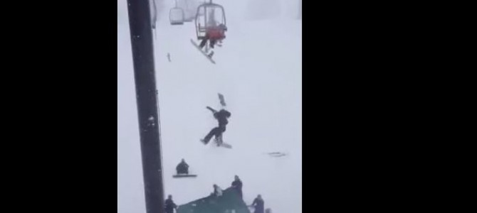 Teen Falls Off Of Chairlift  (NOT Killington)
